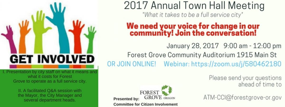 Citizens Are Invited To Annual Town Meeting Forest Grove Oregon
